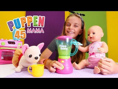 Puppen Mama 45. Lolli hat Husten.  Spielzeugvideo für Kinder