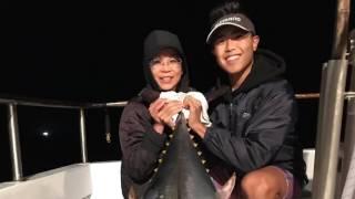 Our 1st 2017 Jumbo Bluefin Tuna on The Prowler - Fisherman's Landing