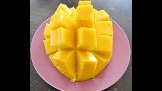 Как правильно и красиво разрезать манго.
