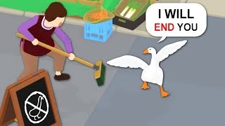 You're Messing With The Wrong Goose, Old Lady - Untitled Goose Game