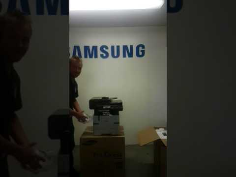 Unboxing the new Samsung 4070FX MFP Printer