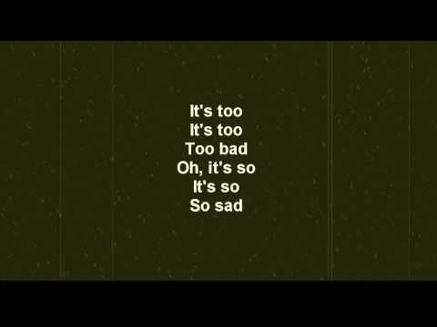 Jordan and the Sphinx - Too Bad, So Sad (Lyric Video)