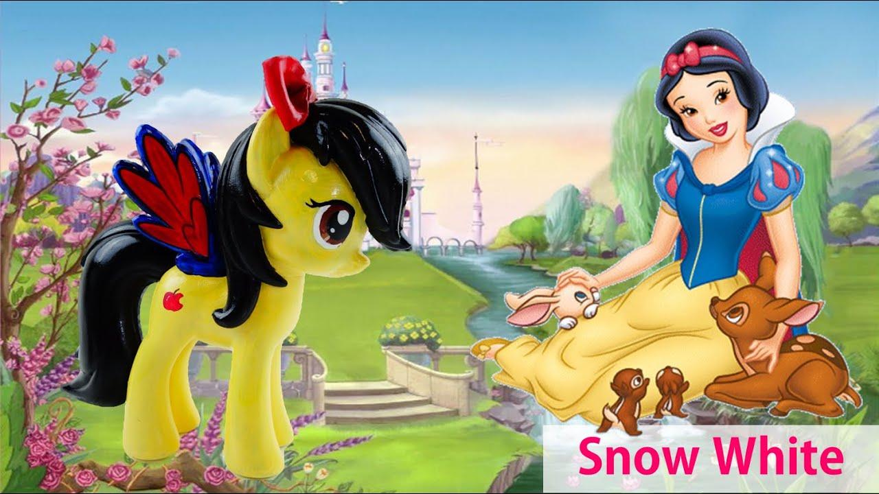 Disney's Snow White custom with My Little Pony Rainbow Dash Tutorial DIY
