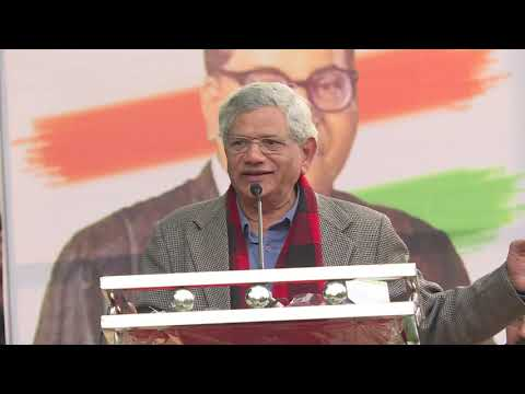 Sitaram Yechury Addresses at the Movement Save The Indian Democracy