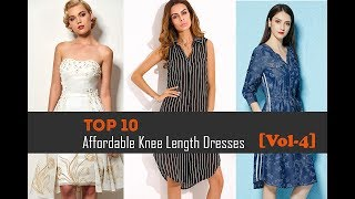 Top 10 Affordable Knee Length Dresses|Below The Knee Dresses Collection For Women[Vol-4]