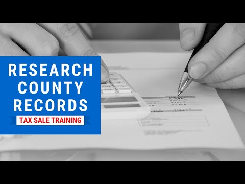 Tax Lien & Tax Deed Training: Researching County Records ...