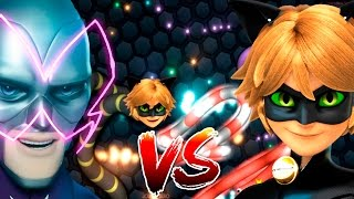 Slither.io Cat Noir vs Hawk Mothn Batalha de cobrinha snake co...