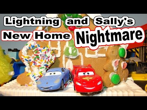 Pixar Cars Kids Toys Lightning McQueen Nigthtmare With Screaming Banshee Sally Mater And Fillmore