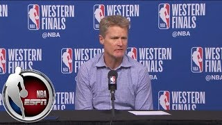 [FULL] Steve Kerr on his team after Game 5 loss to Rockets: 'I think they're angry' | NBA on ESPN - Video Youtube