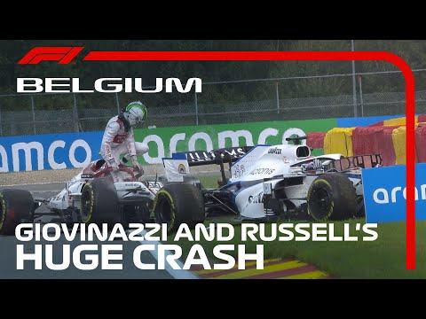 【動画】激しすぎるビジョナッチとラッセルのクラッシュ映像 F1 2020 第7戦ベルギーGP(スパ・フランコルシャン)