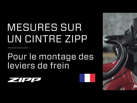 Mesures sur un cintre ZIPP pour le montage des leviers de frein