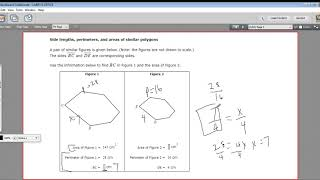Side lengths, perimeters, and areas of similar polygons