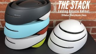 Stack Folding Bicycle Helmet | 174 Hudson | CLOSCA | Priority Bicycles