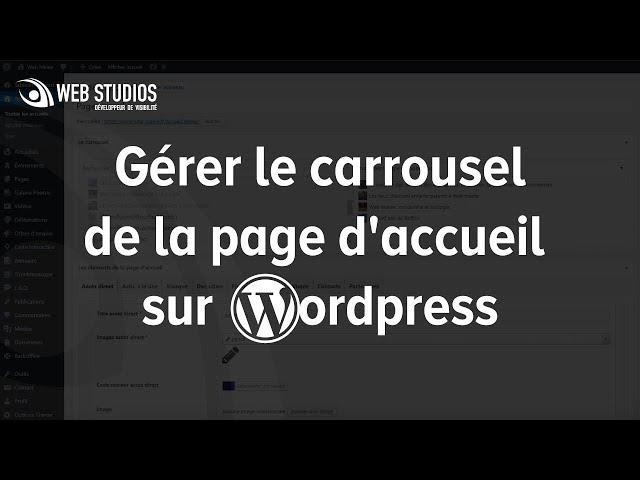 Gérer le carrousel de la page d'accueil sur WordPress