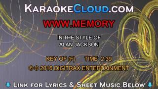 Alan Jackson - www.Memory (Backing Track)