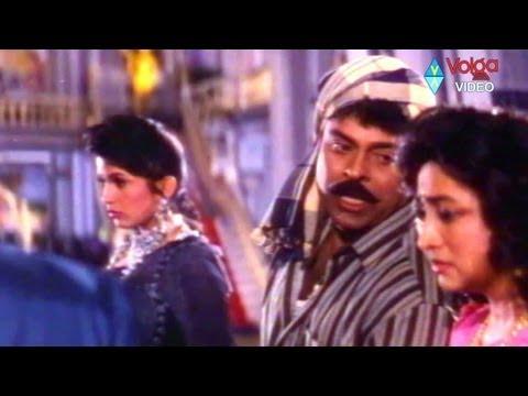 Chiranjeevi with wife ramya krishna comedy   Aunty Lakshmi temperament