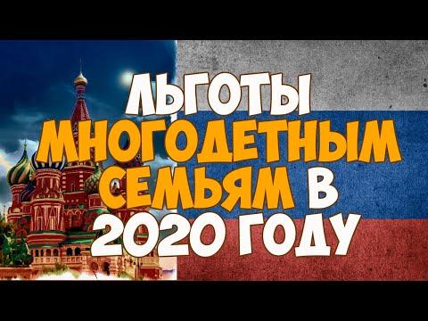 Льготы многодетным семьям в 2020 году в России