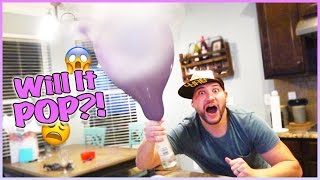 😱 EXTREME EXPLODING DRY ICE BALLOONS!! 😱 WILL IT WORK?! 🎈 SCIENCE WITH JESSE