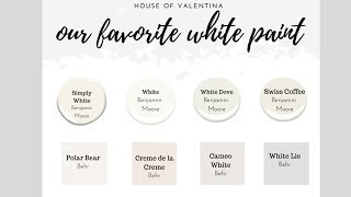 These Are THE BEST WHITE PAINTS:: Our Favorite WHITE PAINT COLORS!