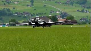 preview picture of video 'JU-52 take-off from Buochs, Switzerland'