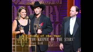 """Tracy Byrd Wins Song of the Year For """"Keeper of the Stars"""" - ACM Awards 1996"""