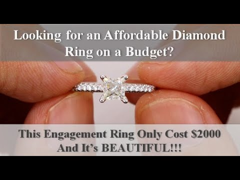 Affordable Diamond Engagement Ring Under $2000! (Review)