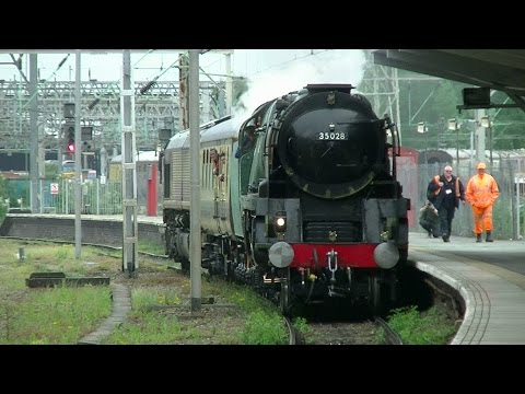 Merchant Navy 35028 'Clan Line' returns to the Mainline 18th…