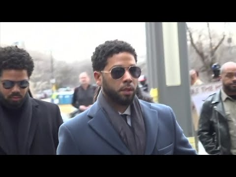 """Empire"" actor Jussie Smollett has arrived at a Chicago courthouse where he's expected to plead not guilty to charges accusing him of lying to the police about being the victim of a racist and homophobic attack. (March 14)"