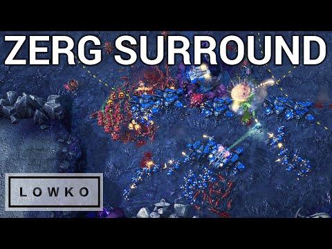 StarCraft 2: HUGE SURROUND! (Zerg Gameplay & Strategy)