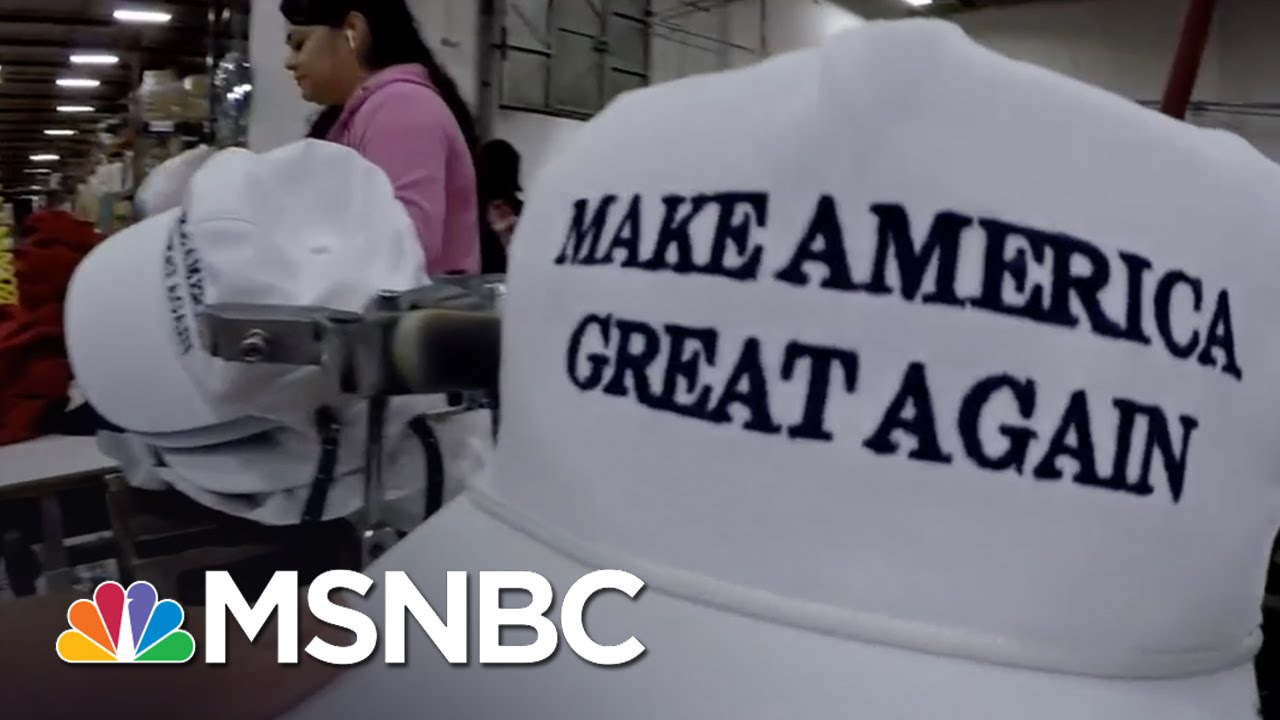 Inside Donald Trump's 'Make America Great Again' Hat Factory | MSNBC thumbnail