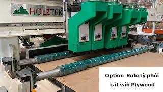 Máy Nesting 4 trục Option con lăn đè phôi, cắt ván nhỏ, cắt ván plywood không bị chạy ván | PRO-R4F