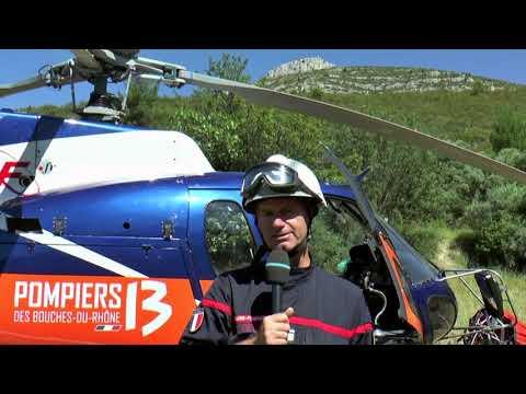 Reportage dans le massif du Garlaban à Aubagne avec les pompiers du DIH