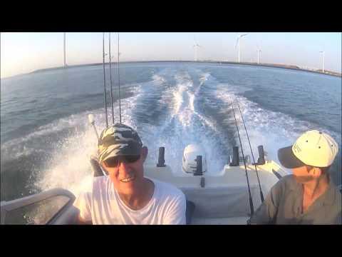 Met de boot, vissen op tong, met Frank, in de Voor-delta
