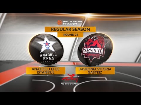 EuroLeague Highlights RS Round 23: Anadolu Efes Istanbul 96-85 Baskonia Vitoria Gasteiz