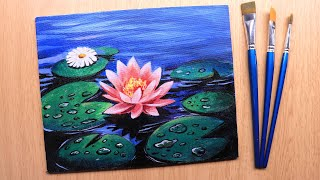 Acrylic Painting Of Beautiful And Simple Flower