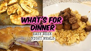 WHAT'S FOR DINNER? | EASY WEEKNIGHT MEALS | JESSICA O'DONOHUE