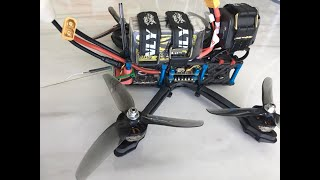 FPV new quard 6s Freestyle / stock pid / Test HQProp V2S