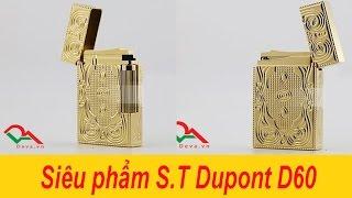 Bật lửa Dupont hoa văn sang trọng màu vàng D60   Deva.vn   Giá 650.000 Đ