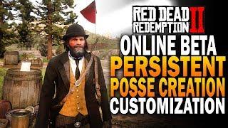 RDR2 Online Posse Creation & Customization! Red Dead Redemption 2 Online