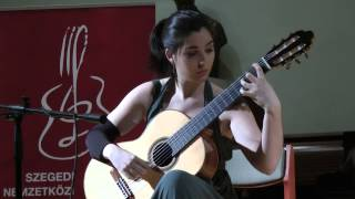 Andrea Gonzalez Caballero Plays LIVE  Sonata I , III Movement By Leo Brouwer