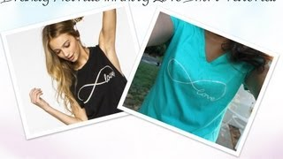 DIY Brandy Melville Infinity Love Shirt Tutorial