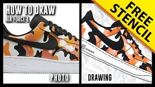 94fc836554f3 HOW TO DRAW  Nike Air Force 1 Low w  FRE.