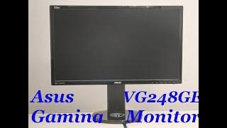 Unboxing und Test des Gaming Monitors Asus vg248qe 1m Reaktionszeit und 144 Hz mit Lautsprechen