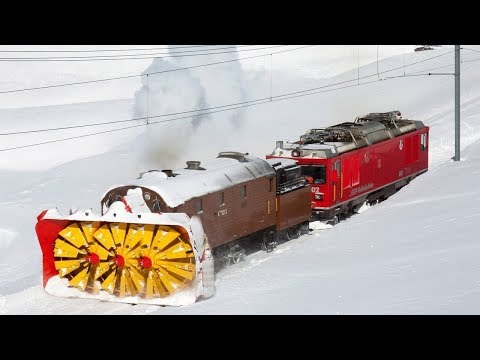 Awesome Powerful Snow Plow Train Blower Through Deep Snow railway tracks Full HD Compilation letöltés