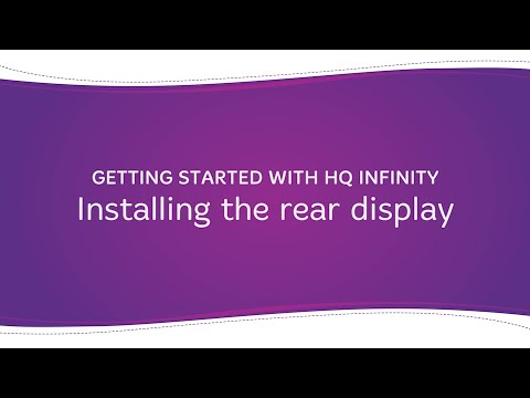 HQ Infinity - Installing the Rear Display