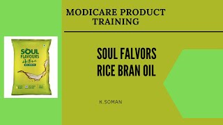 K. SOMAN l MODICARE SOUL FLAVOURS | RICE BRAN OIL | ASKANAS TRAINING ACADEMY