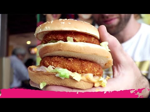 Eating McDonald's Lunch in INDIA – AMAZING Indian FAST FOOD Review | Kolkata, India