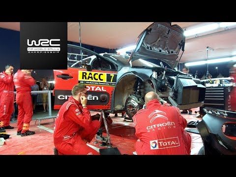 WRC - RallyRACC 2017: Citroen Service (timelapse)