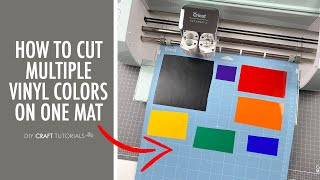 HOW TO CUT MULTIPLE COLORS OF VINYL ON CRICUT | Cut multiple colors of Vinyl on one mat in 2 ways!