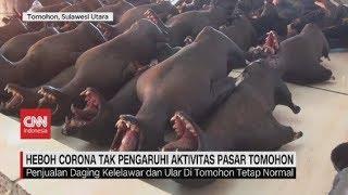 Live streaming 24 jam: https://www.cnnindonesia.com/tv  Beredarnya informasi virus corona yang berasal dari konsumsi daging hewan liar, rupanya tak memengaruhi aktivitas penjualan daging kelalawar dan daging ular di pasar Tomohon, Manado, Sulawesi Utara.  Ikuti berita terbaru di tahun 2020 dengan kemasan internasional berbahasa Indonesia, dan jangan ketinggalan breaking news dengan berita terakhir dan live report CNN Indonesia di https://www.cnnindonesia.com/tv dan channel CNN Indonesia di Transvision.    CNN Indonesia tergabung dalam grup Transmedia. Dalam Transmedia, tergabung juga Trans TV, Trans7, Detikcom, Transvision, CNN Indonesia.com dan CNBC Indonesia.   Follow & Mention Twitter kami: @myTranstweet @cnniddaily @cnnidconnected  @cnnidinsight  @cnnindonesia   Like & Follow Facebook: CNN Indonesia  Follow IG:  cnnindonesiatv